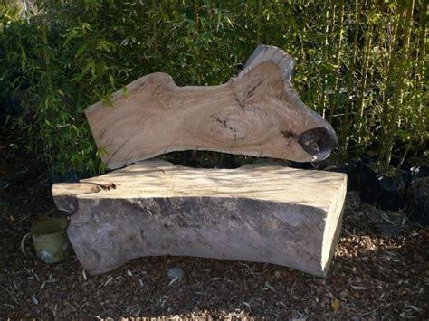 sillones de terraza y jardin bancos y sillas hechos con troncos ideas originales