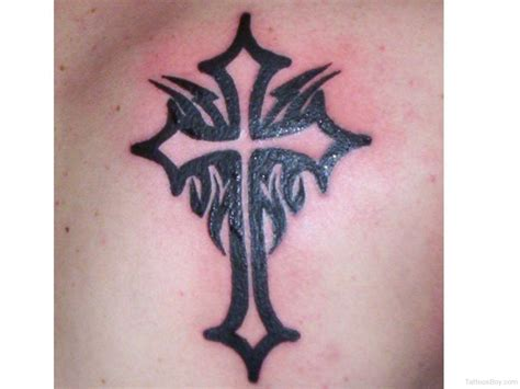 cross tattoos with tribal designs christian tattoos designs pictures page 24