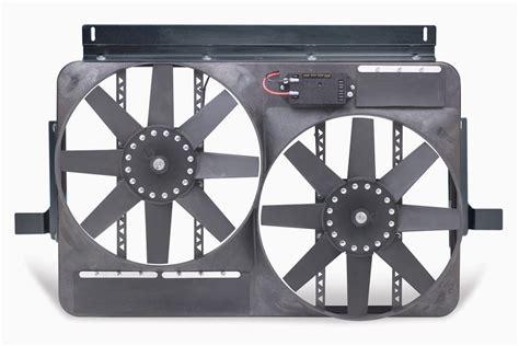 flex a lite adjustable electric fan controllers flex a lite direct fit dual electric radiator fan with