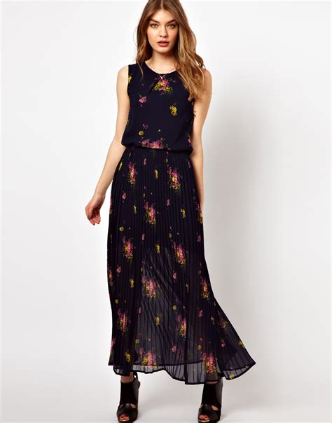 floral maxi dress dressed up
