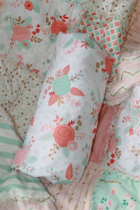 mint and gold bedding girl cribs baby girl crib bedding and mint gold on pinterest