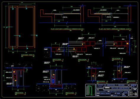 sliding door dwg section  autocad designs cad