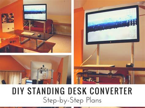 diy standing desk converter diy standing desk converter by plans