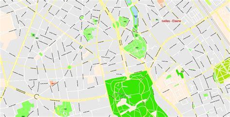 printable map brussels printable map brussels belgium g view level 17 ai 10 ai pdf 19