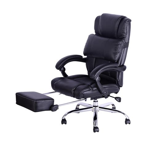 reclining desk chair with footrest reclining office chair with footrest new white leather