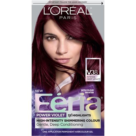hair color loreal loreal feria hair color v38 violet ebay