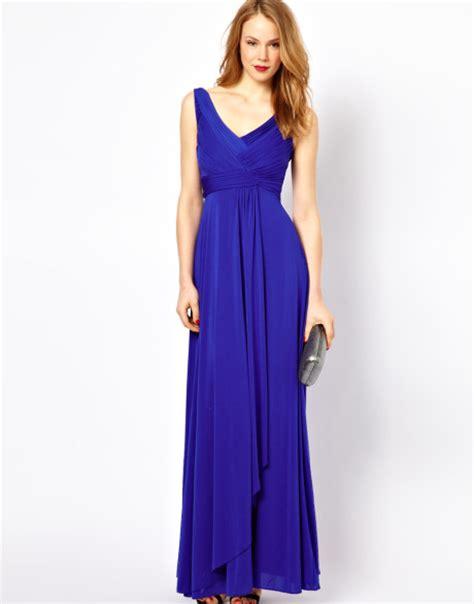 Convington Blue Batik Maxi Jersey cobalt blue maxi dresses