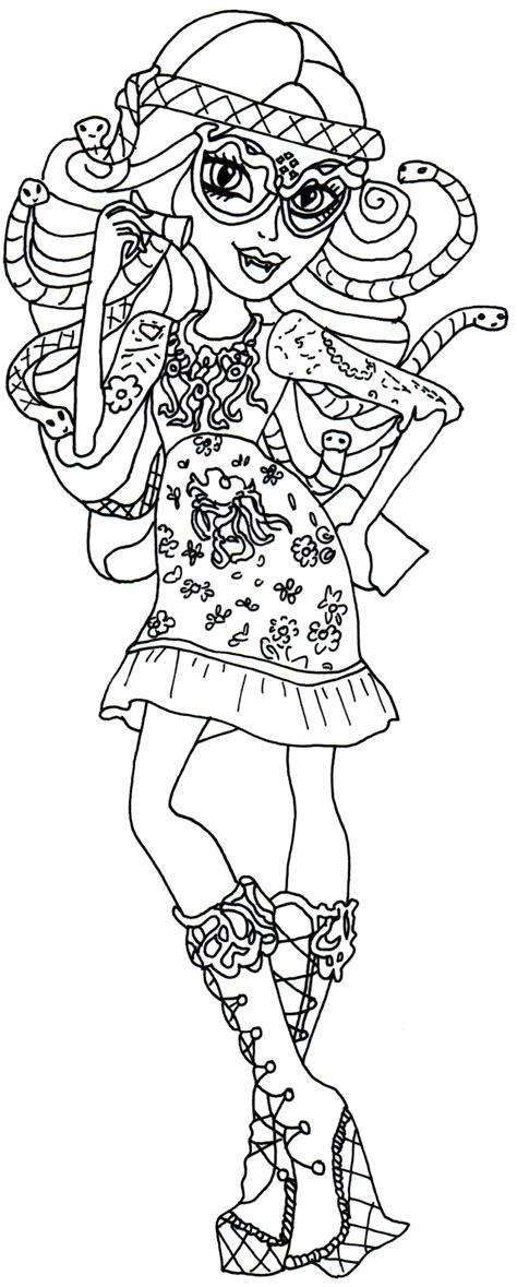 printable coloring pages of monster high dolls new monster high dolls 2014 coloring pages viperine
