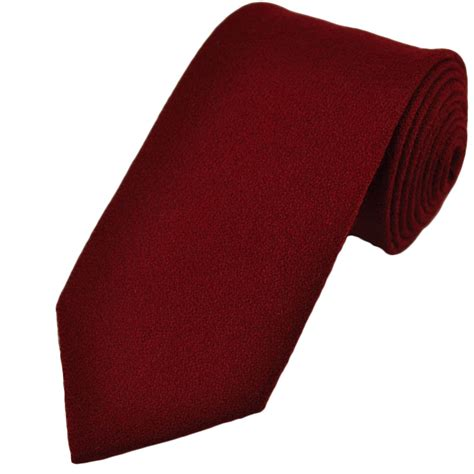 plain burgundy wool tie from ties planet uk
