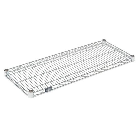 nexel clear poly z brite zinc coated wire shelving section
