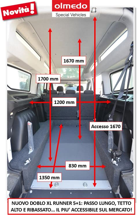 misure interne fiat scudo fiat scudo maxi dimensioni