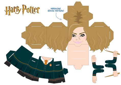Harry Potter Papercraft Templates - hermione granger cubeecraft by asuzz on deviantart