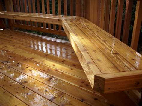 cedar deck bench immaculate cedar deck custom cedar bench deck masters
