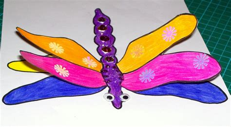 dragonfly paper craft 3d dragonfly craft craft n home