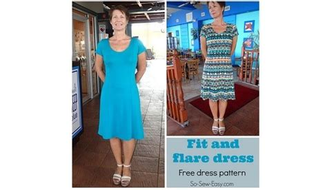 pattern fit  flare dress sewing