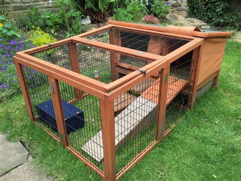 Guinea Pig Hutch And Run cheeko guinea pig rabbit hutch and run keighley west