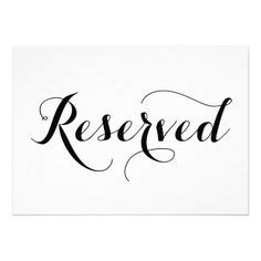 reservedseating card template ceremony free printable reserved seating signs for your wedding