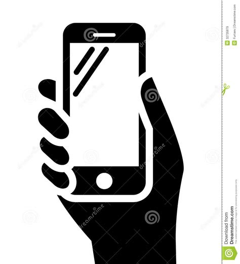 Phone In Hand Sign Royalty Free Stock Images   Image: 32735879