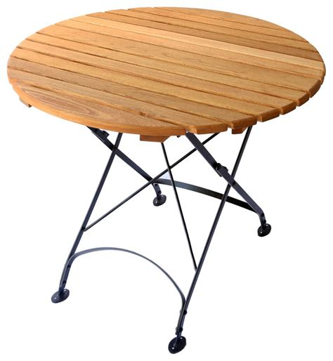 Small Wooden Patio Table Small Table Solid Top Traditional Outdoor Tables By American Country