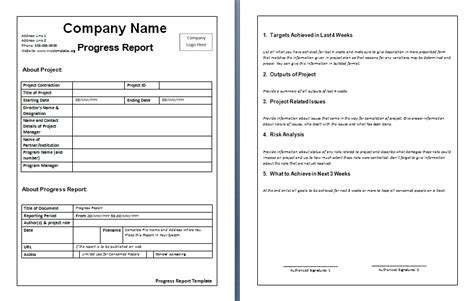 weekly report template free word s templates