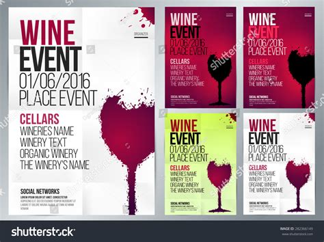 Event Banner Template design wine event suitable poster promotional stock vector