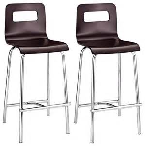 set of two zuo modern escape wenge 24 quot high counter stools