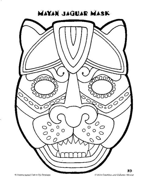 printable aztec mask mayan mask template google search wednesday night