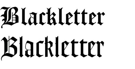 Black Letter Type Categories Part 01 Blackletter Reddoor Creative