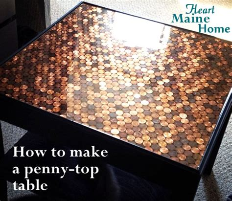 penny bar top diy heart maine home how to make a penny top table diy