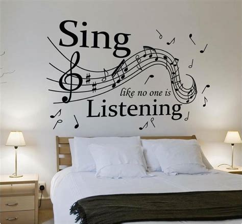 sing     listening wall art totesamazewalls