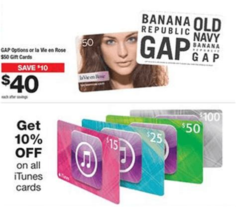 Gift Cards Available At Staples - staples canada deals save 10 on gap options or la vie en rose 50 gift cards save