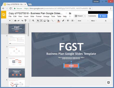 templates for google slides free free business plan google slides template
