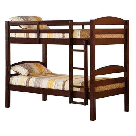 Walker Edison Bunk Bed Household Furniture Provide Walker Edison Solid Wood Espresso Bunk Bed The Furniture