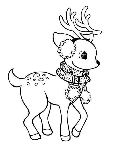 cute rudolph coloring pages reindeer lineart by rpgirl on deviantart