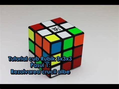 tutorial penyelesaian rubik 3x3 tutorial cub rubik 3x3x3 pasul 1 rezolvarea crucii albe