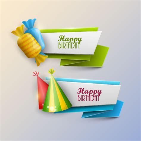 happy birthday banner design vector free download happy birthday banner with candy vector vector banner