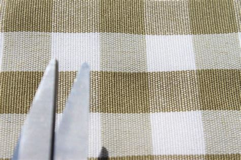 kitchen curtain fabrics vintage shabby heavy cotton gingham upholstery kitchen cushion curtain fabric ebay