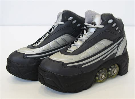 rollerblade shoes for roller skate shoes 4 wheels retractable bnib blk ebay
