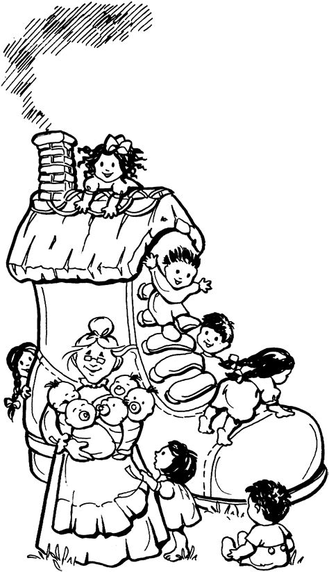 shoe house coloring pages free printable coloring page mother goose nursery