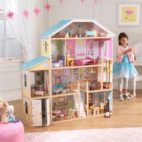 kid kraft doll house majestic mansion dollhouse