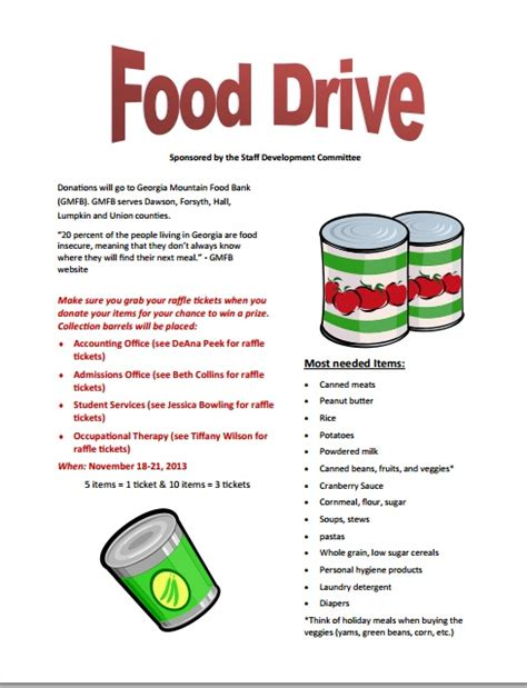 can food drive flyer template food drive flyer template pictures to pin on