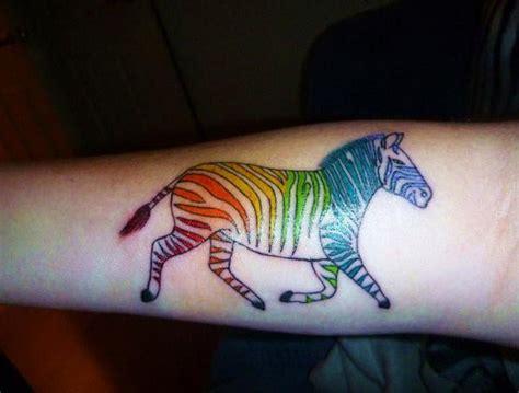 zebra tattoo on arm amuse vivid colored zebra tattoo on arm tattooimages biz