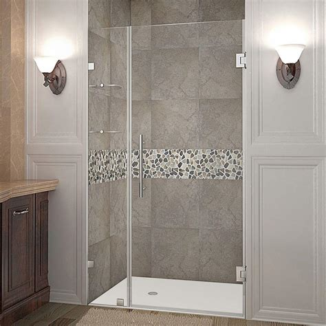 Aston Nautis Gs 36 In X 72 In Frameless Hinged Shower Hinged Glass Shower Door