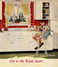 Kitchen Cabinets Red by 1940s Decorating Style Retro Renovation