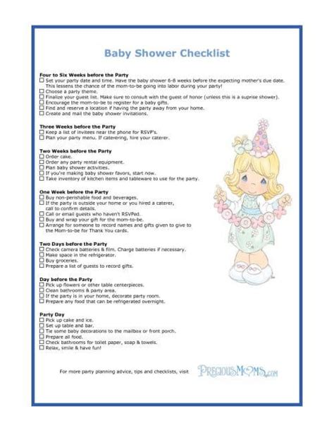 Checklist Baby Shower by The Checklist Of Baby Shower Planning Guide Baby Shower