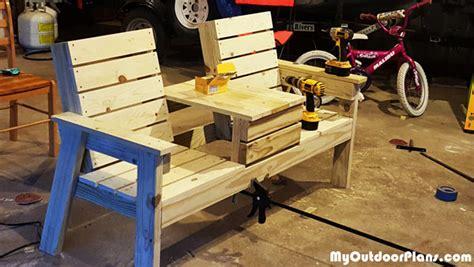 build  double chair bench myoutdoorplans