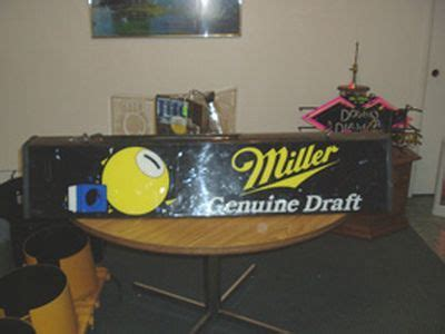 Miller Genuine Draft Pool Table Light Light Quot Miller Genuine Draft Quot Plastic Pool Table 459501