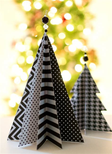 christmas craft idea paper trees