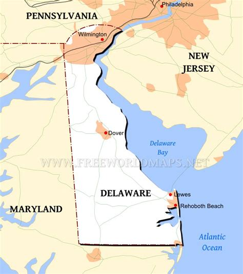 us map states delaware delaware maps