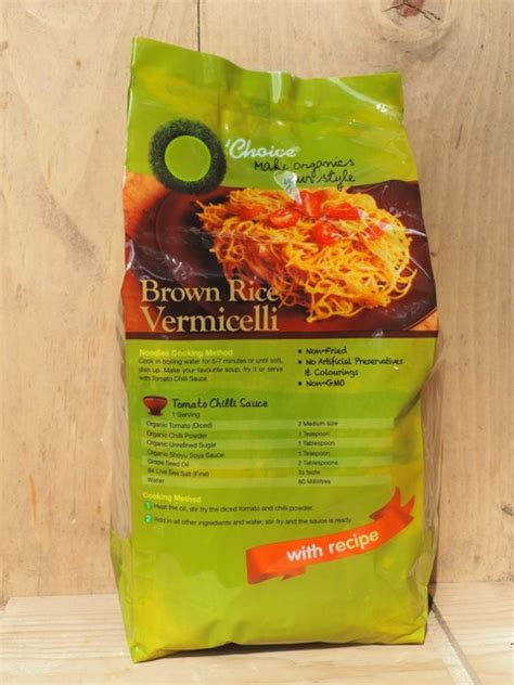 Organic Brown Rice Vermicelli brown rice vermicelli o c 糙米米粉 eat with peace of mind